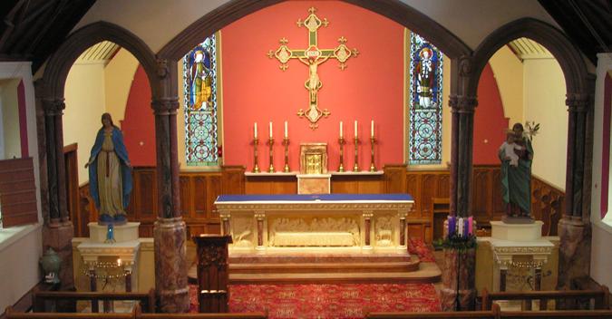 altar at st marys